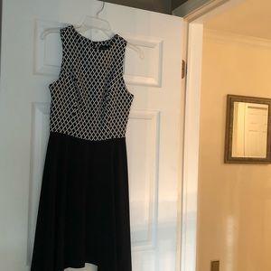 Karen Kane black and white dress